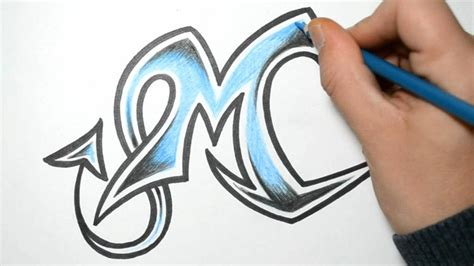 M Drawing Design by How To Draw Graffiti Letters M