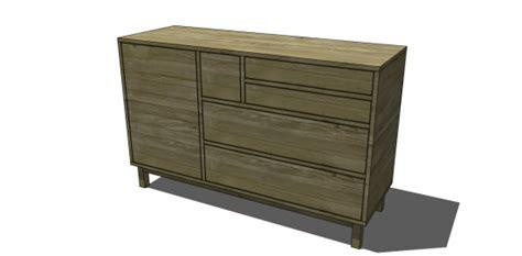 West Elm Patchwork Dresser - free diy furniture plans to build a west elm inspired
