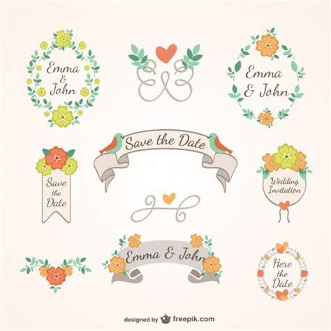 cute wedding decoration vector free download floral wedding decoration vector free download