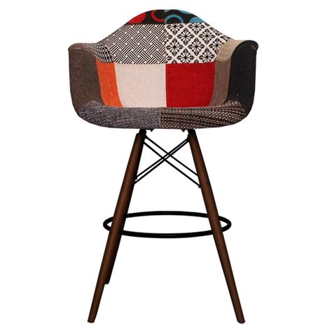 Eames Style Stool by Eames Inspired Patchwork Fabric Dab Style Stool Eames