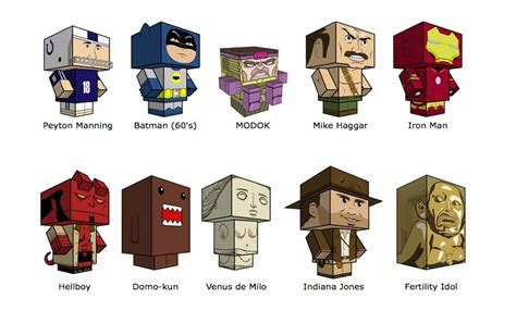 Papercraft Characters - cubeecraft free paper toys for your desk my modern met