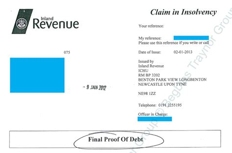Proof Of Debt Letter Uk Proof Of Debt Form From The Insolvency Service