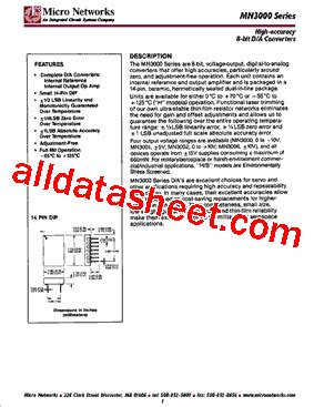 integrated circuits pdf file mn3001 datasheet pdf integrated circuit systems