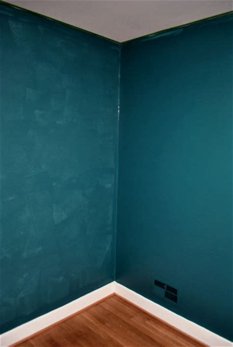 bold teal walls a handy how we cut in house