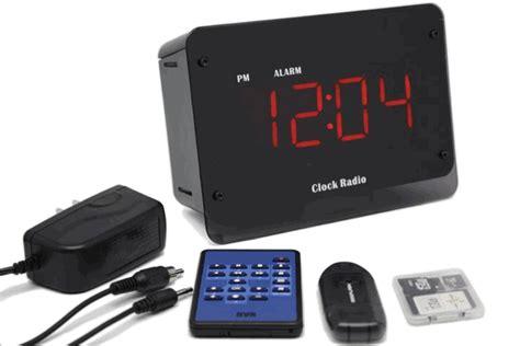 mini motion activated dvr clock radio