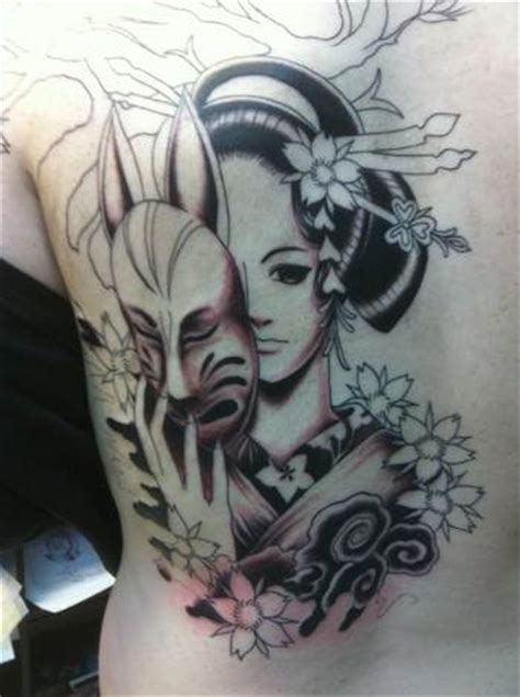 geisha back tattoo girl anime tattoos and designs page 17