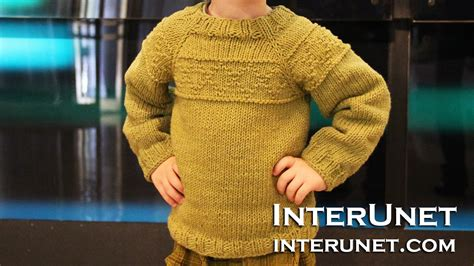 knitting for 5 year olds knit a raglan sleeve sweater for a toddler boy rhombus
