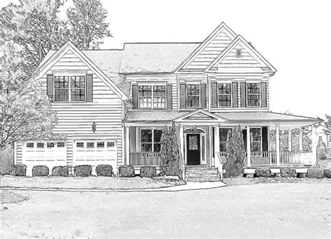 houses drawings house portraits online