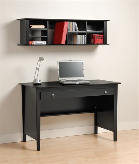 Prepac Computer Desk Prepac Bwd 4730 K Black Contemporary Computer Desk And Wall Hutch In Black Worthy Price For Sale