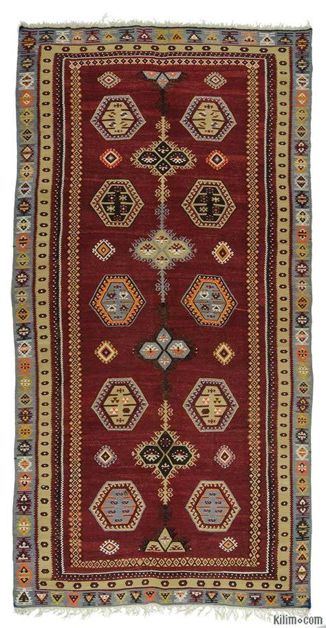 red vintage sarkisla kilim rug