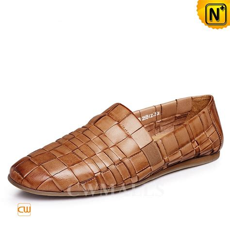 mens woven leather loafers cwmalls 174 mens leather woven loafers cw716408