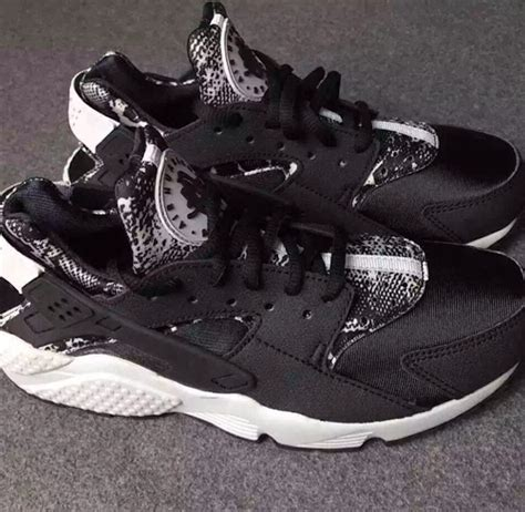 black and white pattern nikes nike air huarache snakeskin black white sneaker bar detroit