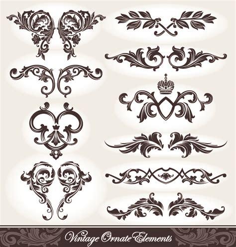 vintage european pattern european pattern patterns 05 vector free vector 4vector