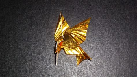Origami Mockingbird - origami mockingjay from hunger bird only by