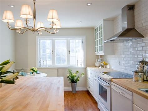 Butcher Block Countertops White Cabinets by White Kitchen Cabinets With Butcher Block Countertops