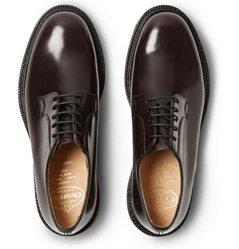 church shoes lyst church s shannon leather derby shoes in for