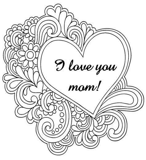 Get This Free Mother S Day Coloring Pages For Adults To Print Out 37120 Print Out Pages