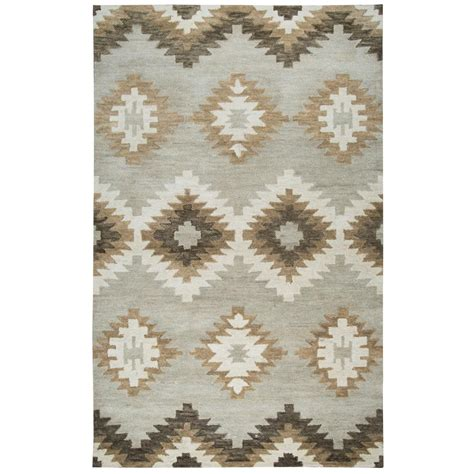 Leons Area Rugs Rizzy Home Gray Southwestern 8 Ft X 10 Ft Area Rug Lenlo008a00330810 The Home Depot