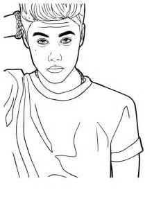 justin bieber looking confused coloring page netart