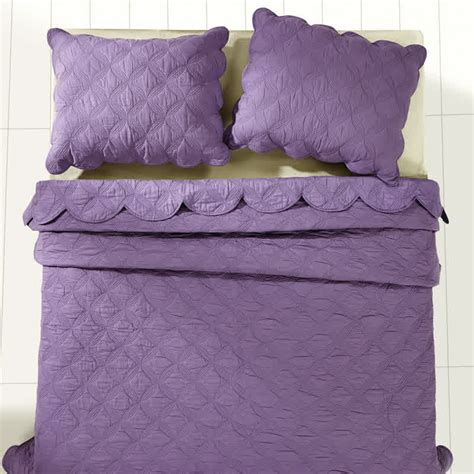 luxury king quilt 120 x amelia orchid luxury king quilt bedding set 105 quot x 120 quot 2 pillow shams