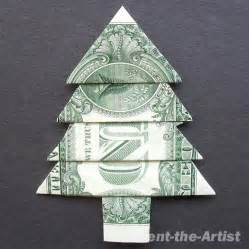 dollar bill money origami christmas tree origami