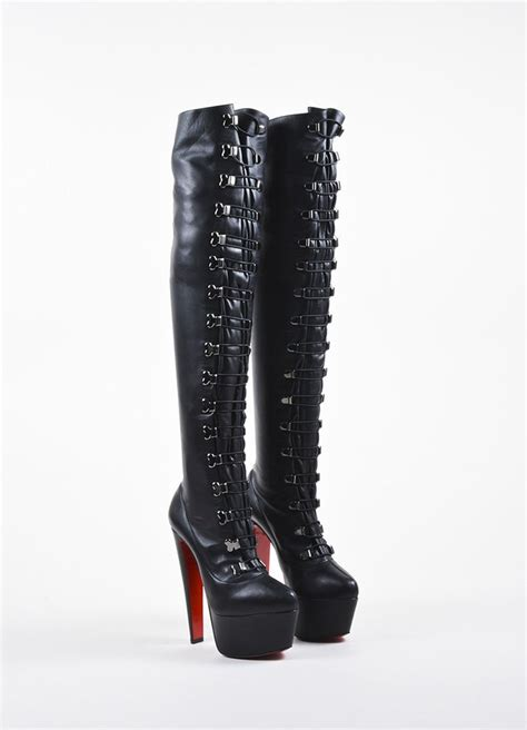 christian louboutin black louboutin leather quot maxicroche