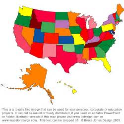 colored united states map blank us map color