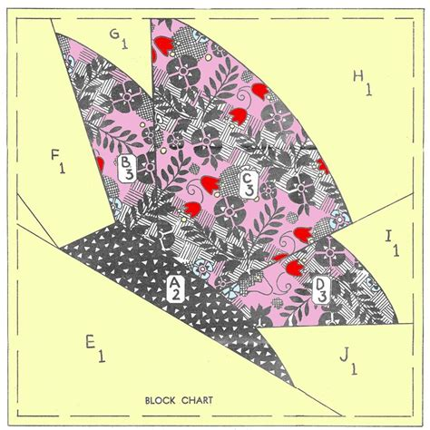 vintage butterfly quilt block sewing pattern mail order