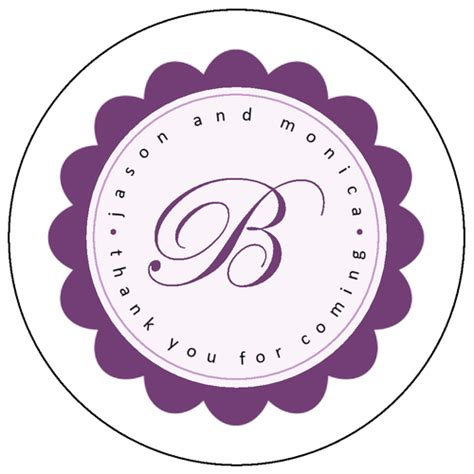 circle label template violet floral burst coaster label label templates