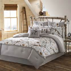 Beige Bedding Sets Queen 4pc White Camo Bedding Set Grey Nature Print Rustic