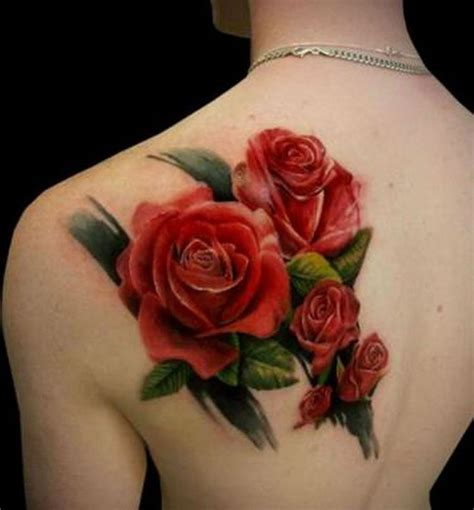 rose on back tattoo 24 images pictures and ideas