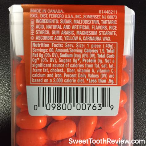 tictacsnutritionfacts zomg candy