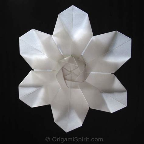An Origami Flower - six petal origami flower or origami snowflake
