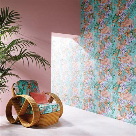 flamingo wallpaper matthew williamson buy matthew williamson flamingo club wallpaper w6800 06