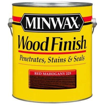 minwax 1 gal oil based red mahogany wood finish interior stain