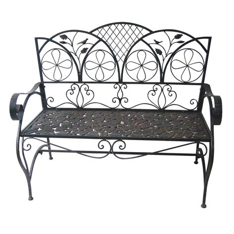 black metal garden bench metal garden benches