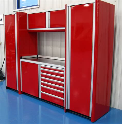 Aluminum Cabinet by Car Garage 11 Foot Wide Aluminum Cabinets