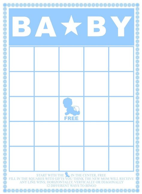 Baby Shower Bingo Card Template by Baby Bingo Template Madinbelgrade