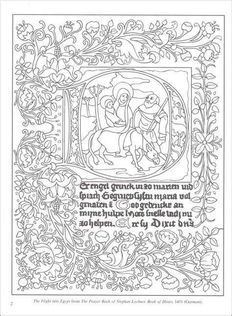 illuminated manuscripts coloring book 030238 details
