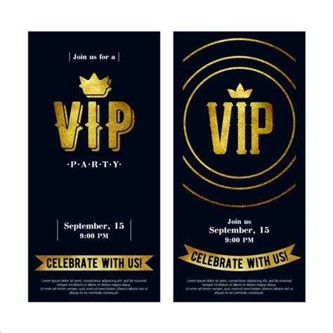 vip pass invitation template luxury vip invitation cards template vector 05 vector