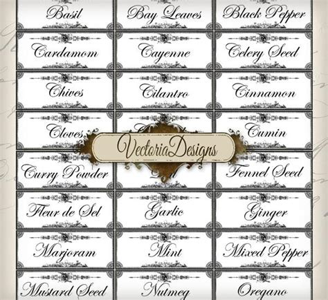 printable spice jar labels avery 8 best images of avery printable spice labels avery