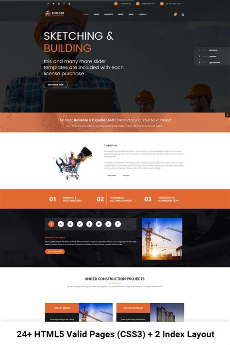 Builder Construction And Building Html Website Template 67401 Best Template Based Website Builder