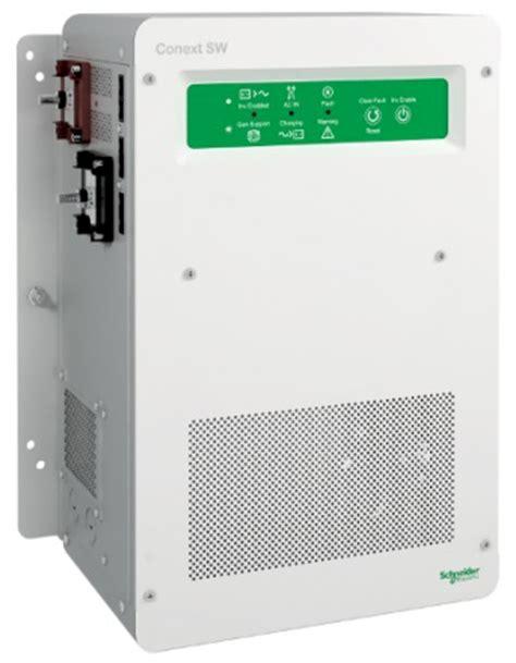 schneider electric inverter charger schneider electric conext sw 4024 3 500 watts 24vdc
