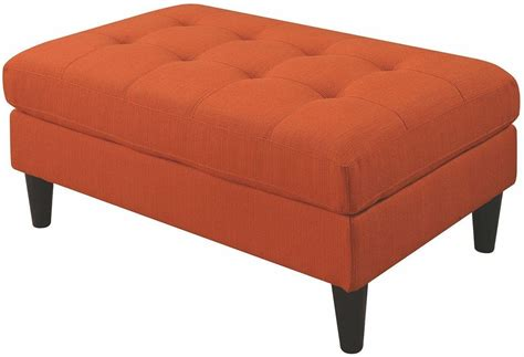Kesson Orange Ottoman From Coaster Coleman Furniture Orange Ottomans
