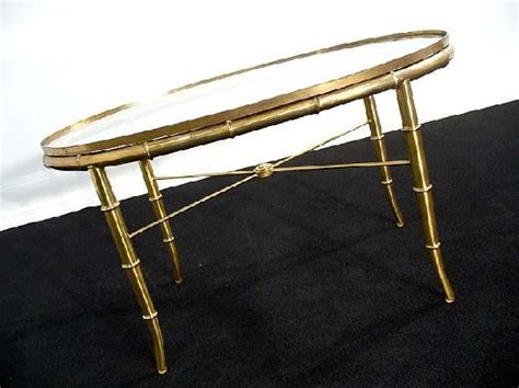faux bamboo coffee table golden faux bamboo glass coffee end table