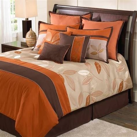 brown and orange comforter orange and brown hallmart bedrooms pinterest