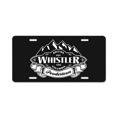 Plat Emblem Akrapovic Alumunium whistler mountain emblem aluminum license plate by highaltitudes3