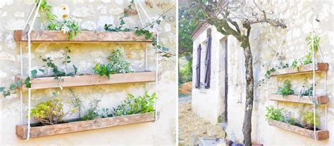 Fabriquer Jardiniere En Palette by Diy Pour Fabriquer Une Jardini 232 Re Suspendue En Bois De