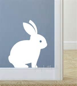 bunny rabbit decal nursery wall decals easter bunny decals bunnies wall art sticker with carrots stickythings co za
