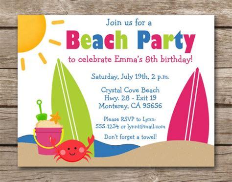 21 beach party invitation designs psd vector eps jpg